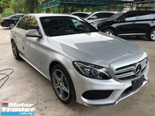 2015 mercedes-benz c-class c200 amg 2.0 turbo pre-crash distronic-plus adaptive intelligent full-led keyless-go push start button memory bucket seat paddle shift steering active lane keeping assist blind spot assist dual zone climate bluetooth connectivity reverse camera unreg