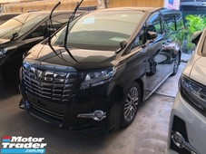 2016 toyota alphard 2.5 sc 360 surround camera intelligent full-led lights pilot memory seat automatic power boot 2 power doors keyless-go smart entry multi function steering drive hold 3 zone climate control eco mode roller blind 9 air bags unreg