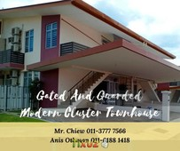 freehold gated guarded modern cluster townhouse alor gajah